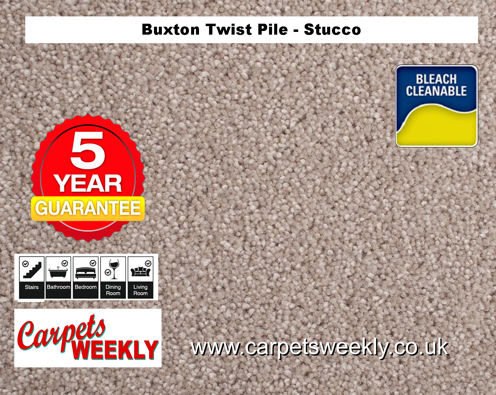 Carpets Weekly Buxton Stucco