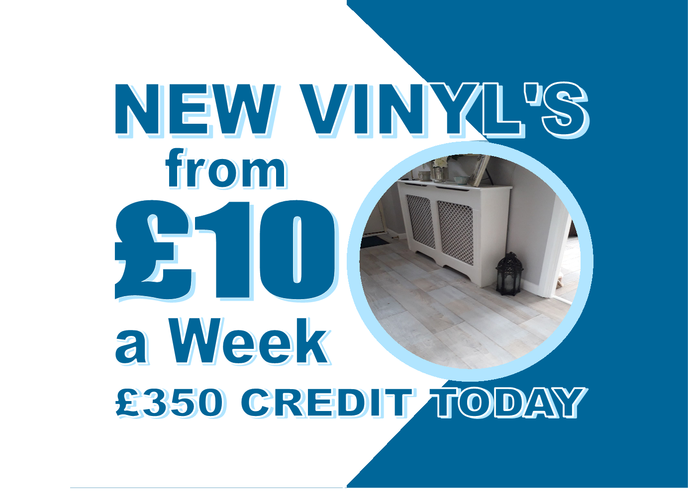 New Vinyl Flooring from £10 per week with Carpets Weekly