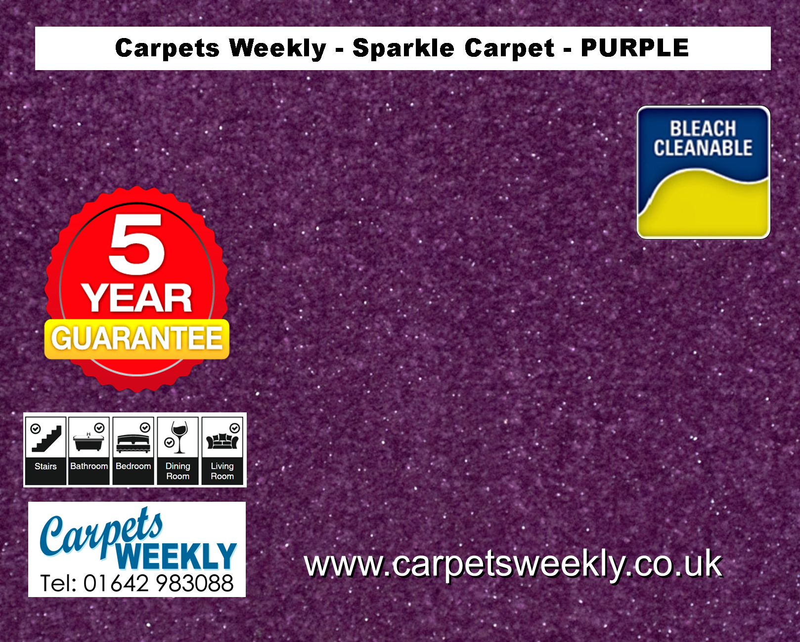 Purple Sparkle Carpet from Carpets Weekly