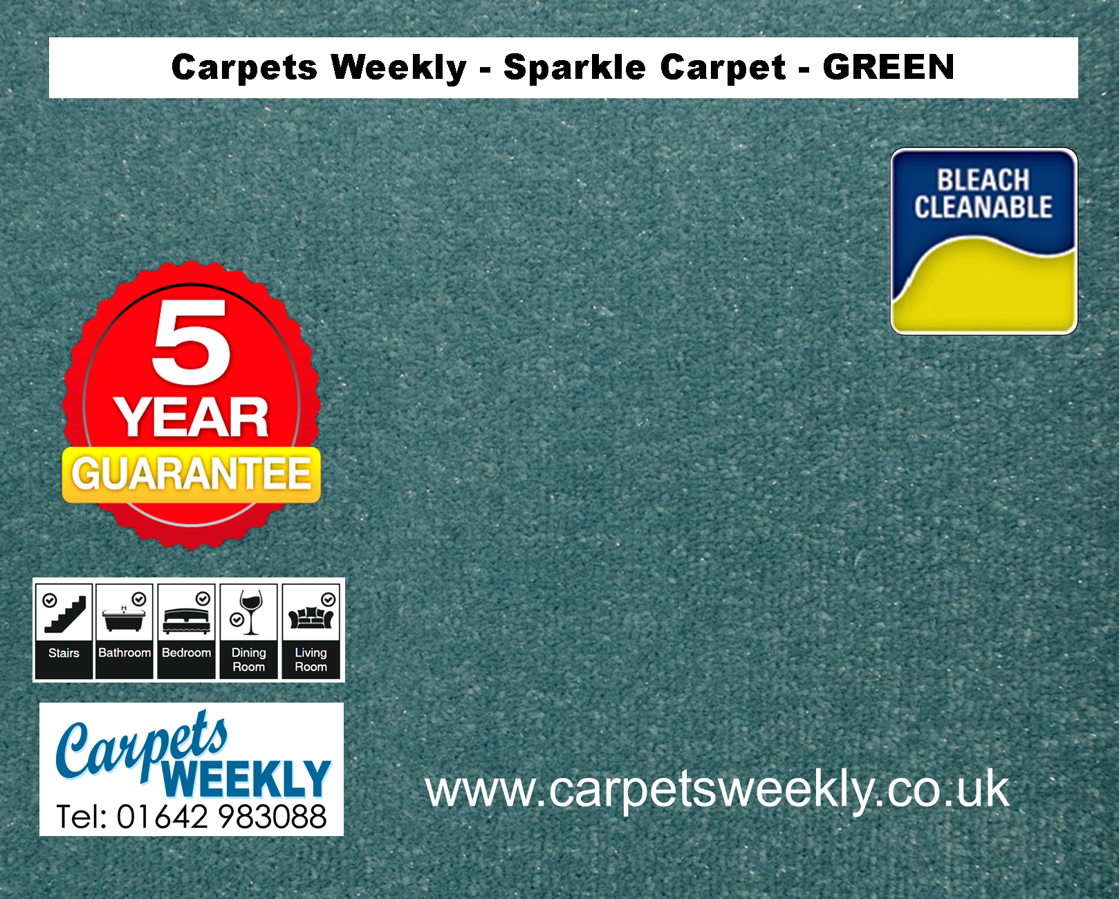 Green Sparkle Carpet from Carpets Weekly
