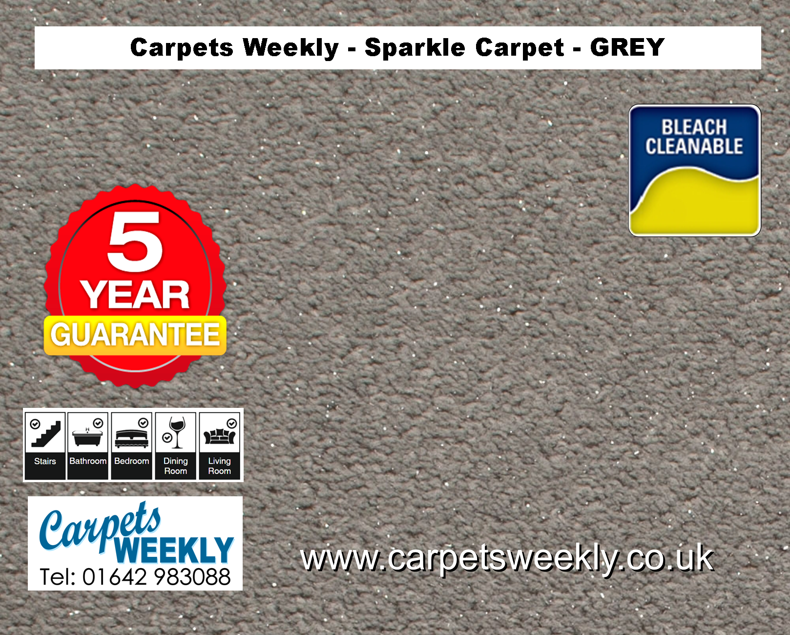 Grey Sparkle Carpet from Carpets Weekly