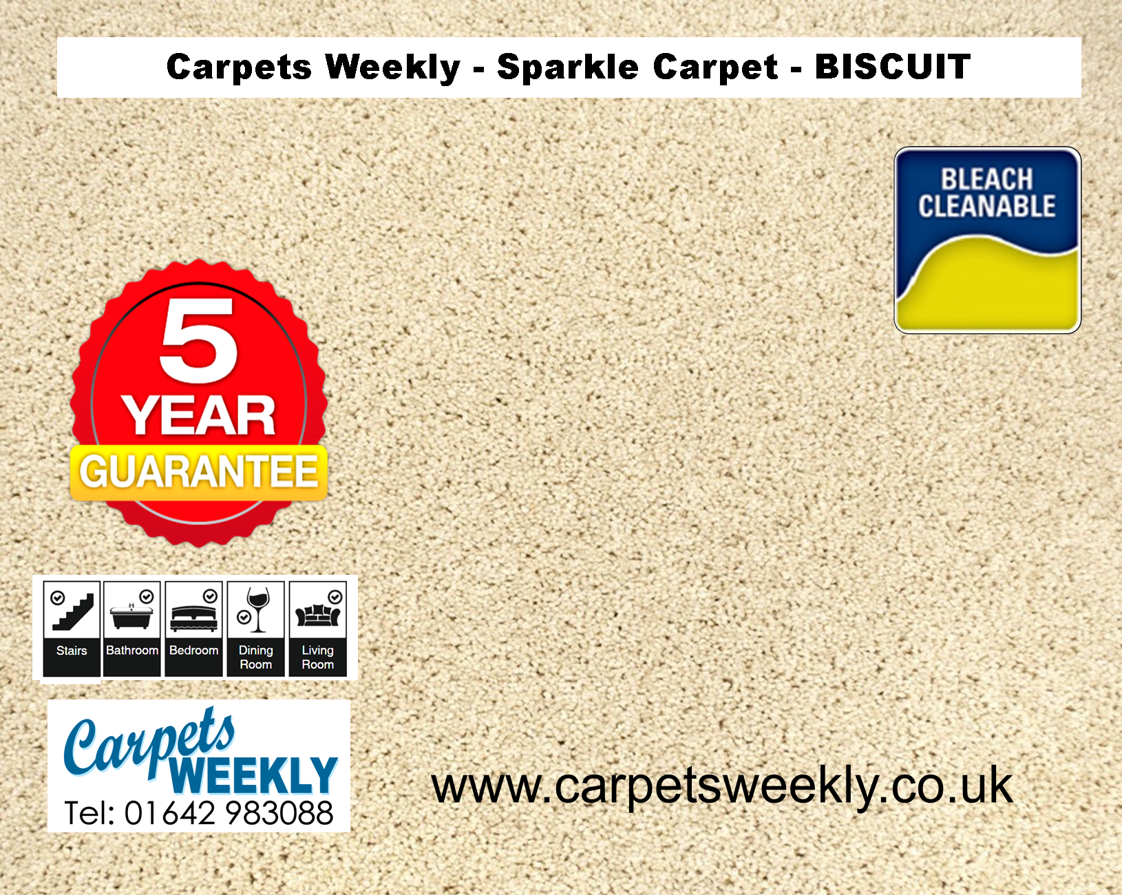 Biscuit Sparkle Carpet from Carpets Weekly
