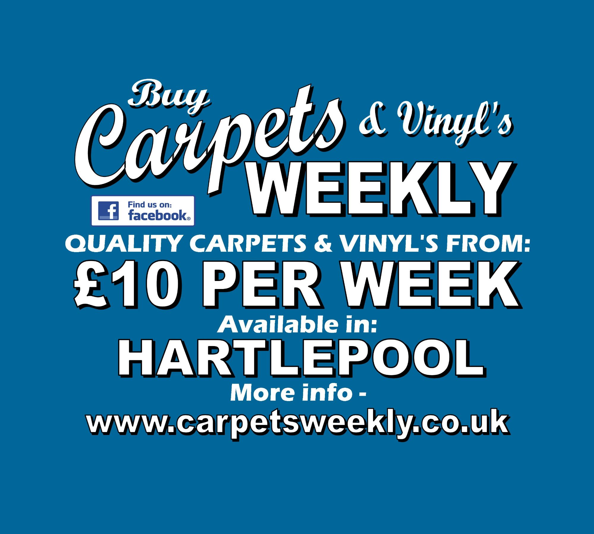 Carpets Weekly available in Hartlepool