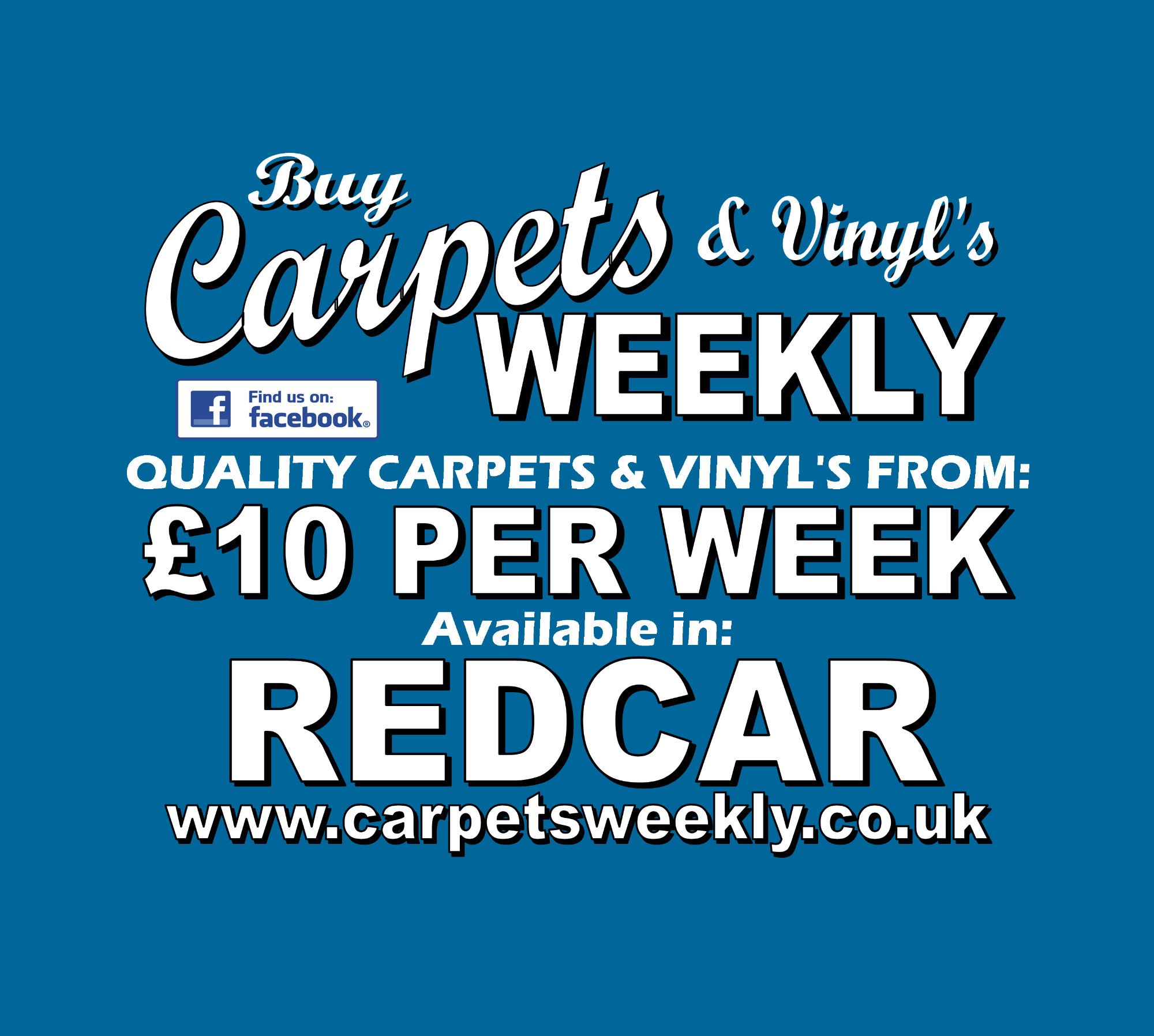 Carpets Weekly available in Redcar