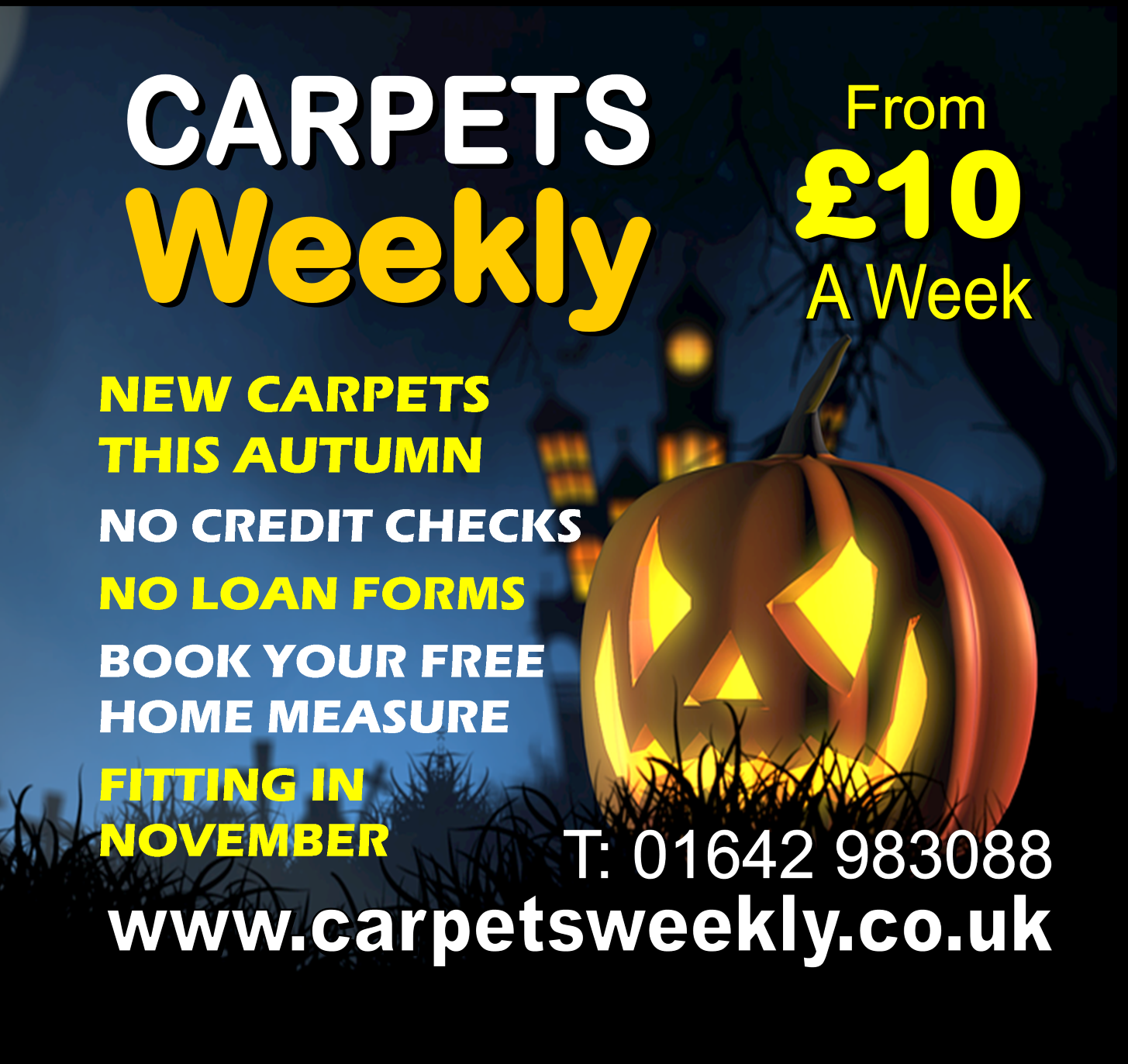 Halloween with Carpets Weekly
