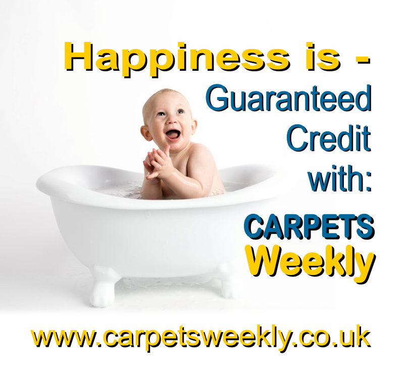 Happiness is a new carpet from Carpets Weekly