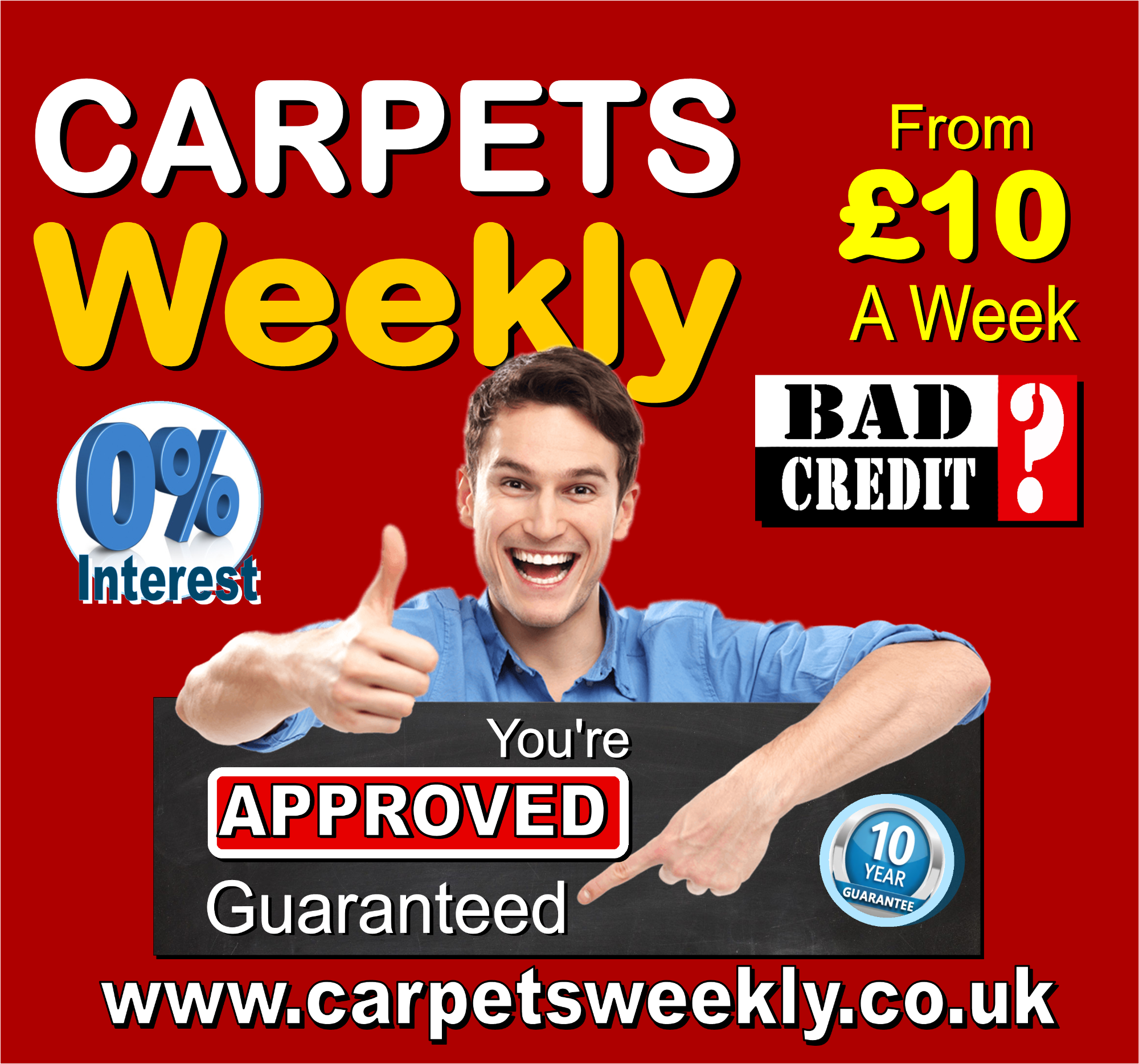 Guaranteed Credit with Carpets Weekly