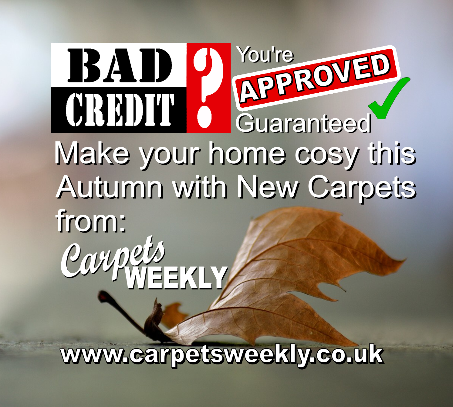 Autumn is coming stay warm with Carpets Weekly