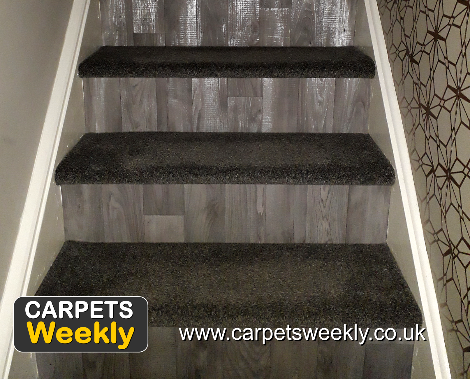 Dublin Heather Shadows and Sandiargo Vinyl Combi Stairs (b) from Carpets Weekly