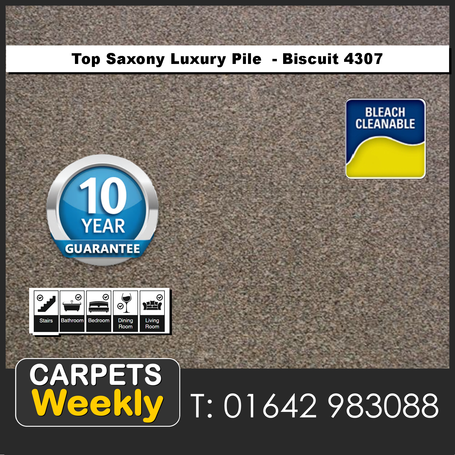 Top Saxony Biscuit 4307 carpet. Carpets Weekly