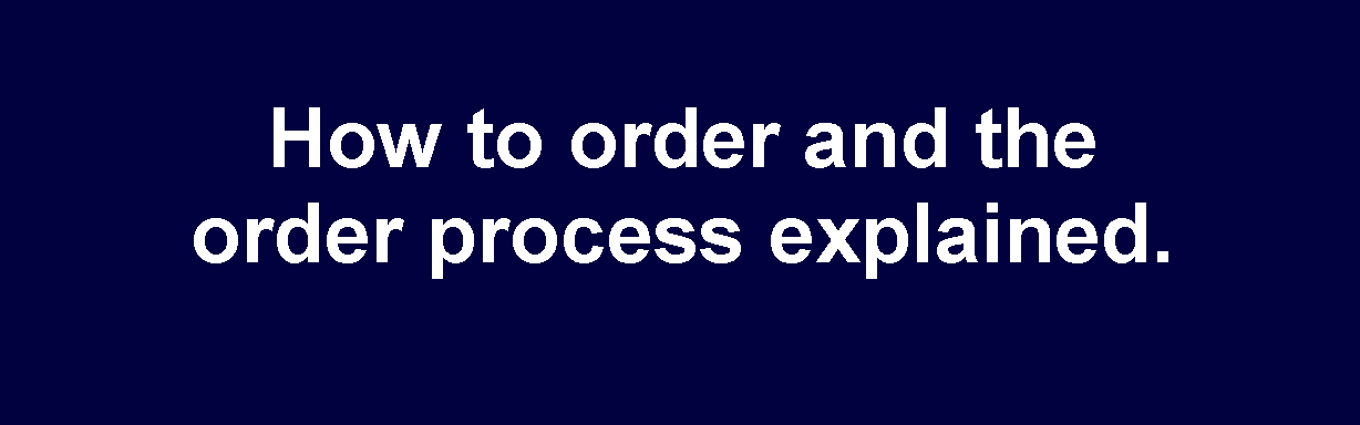 How to order and the order process explained from Carpets Weekly