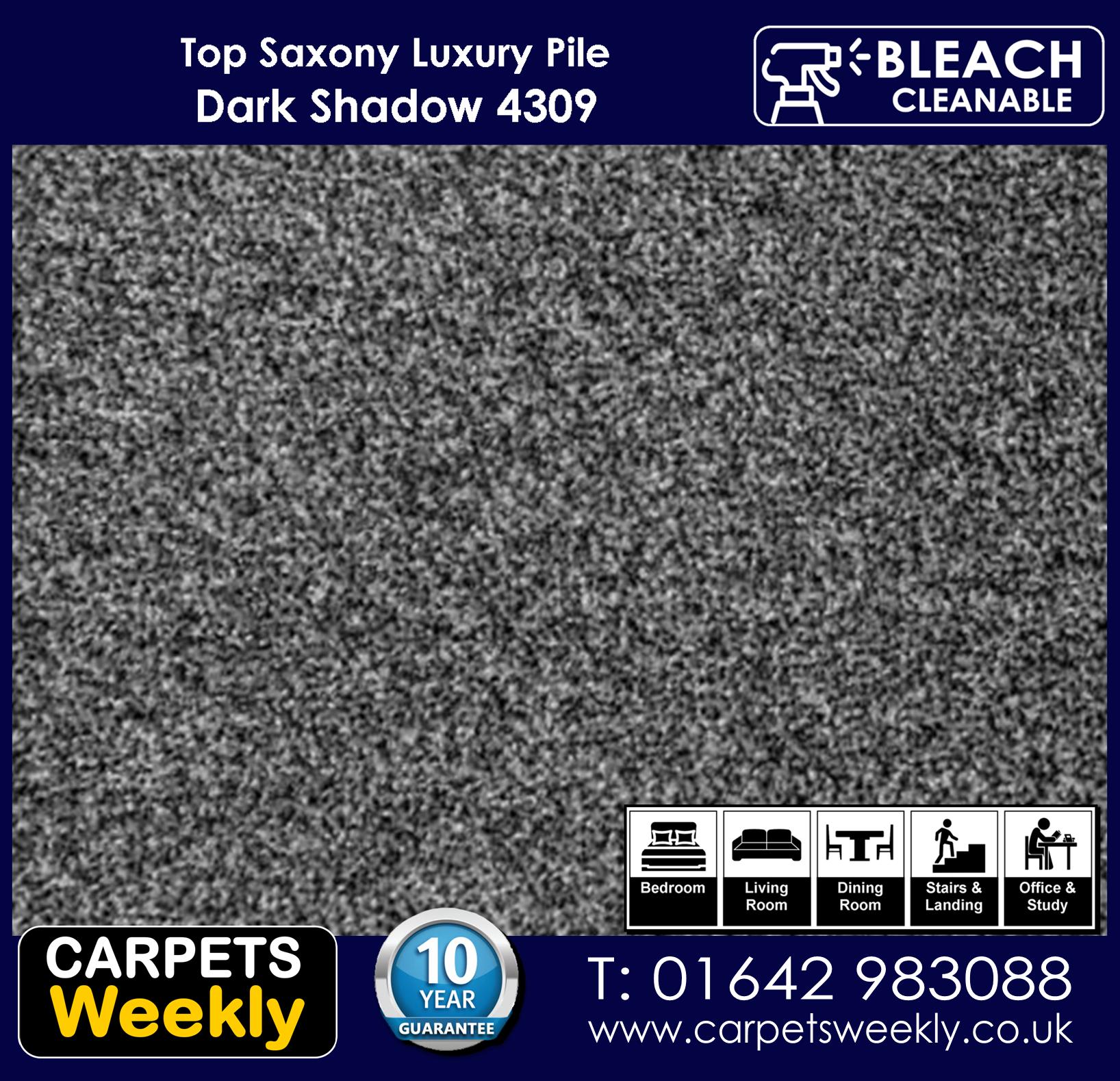 Top Saxony Dark Shadow - 4309 Carpets Weekly