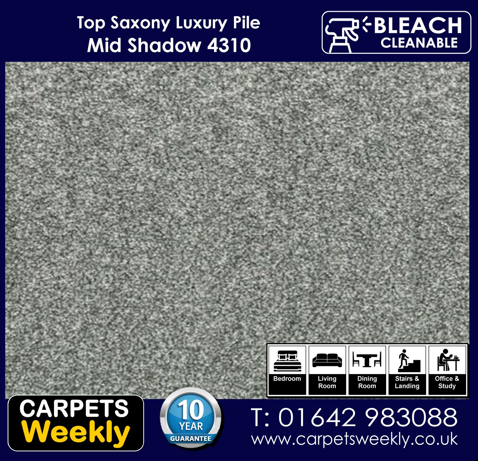 Top Saxony Mid Shadow - 4310 Carpet. Carpets Weekly