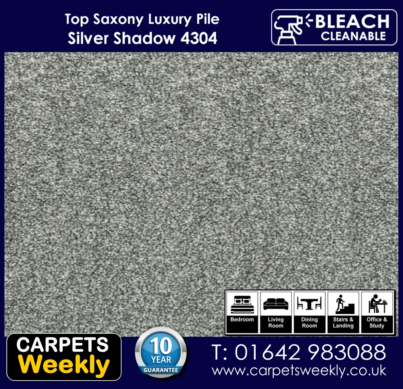 Top Saxony Silver Shadow - 4304 Carpet. Carpets Weekly