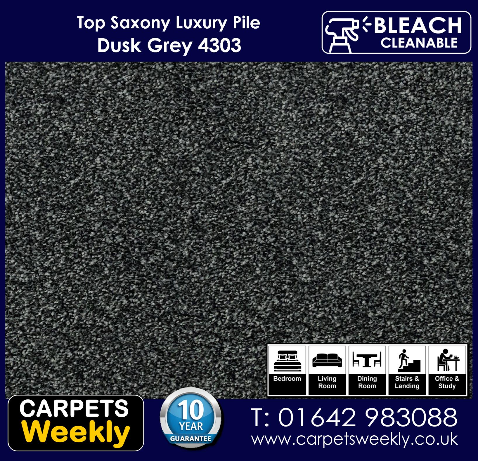 Top Saxony Dusk Grey - 4302 Carpet. Carpets Weekly