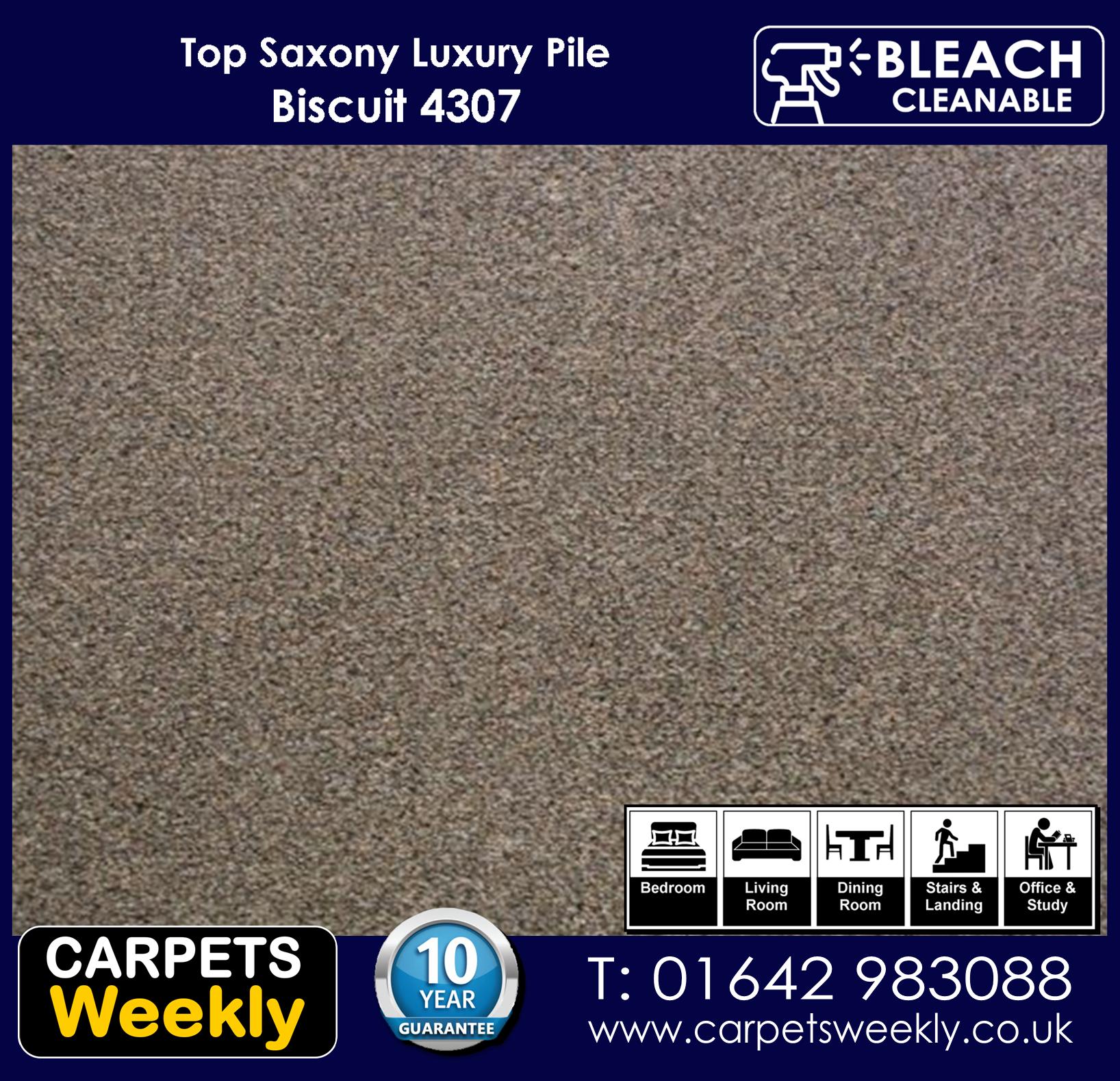 Top Saxony Biscuit 4307 carpet. Carpets Weekly