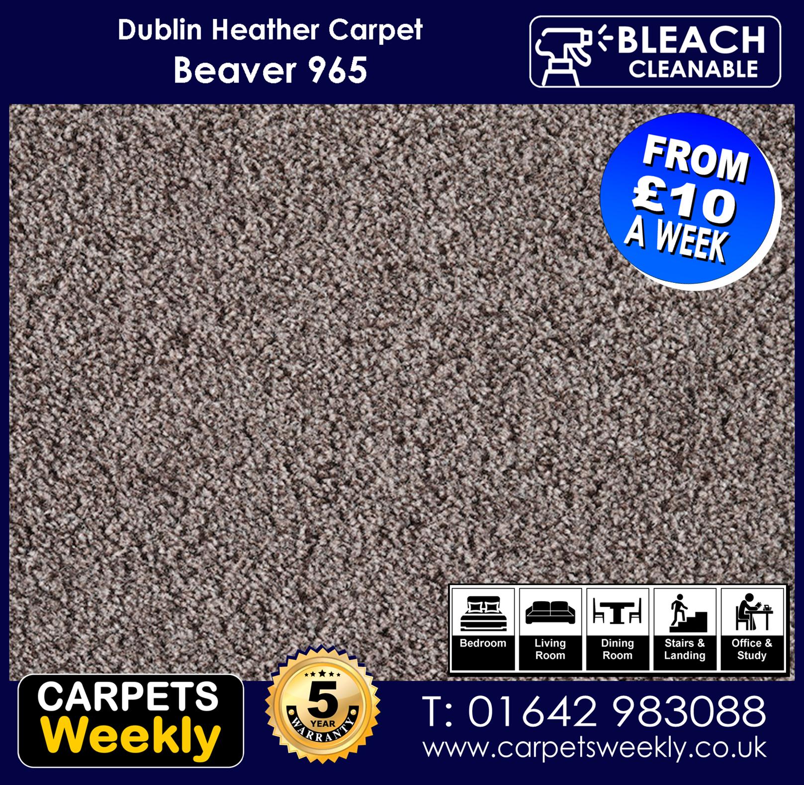 Carpets Weekly Dublin Heather Dublin Beaver - 965 mid range carpet