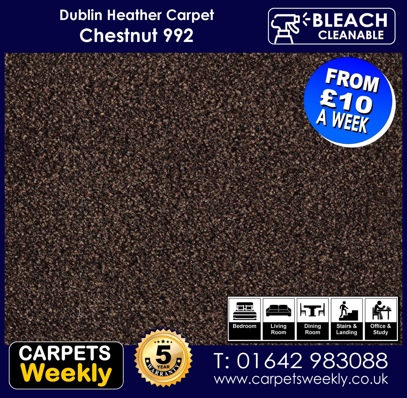 Carpets Weekly Dublin Heather Dublin Chestnut - 992 mid range carpet