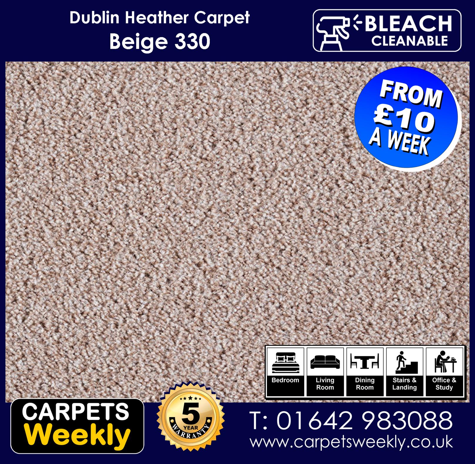 Carpets Weekly Dublin Heather Dublin Beige - 330 mid range carpet