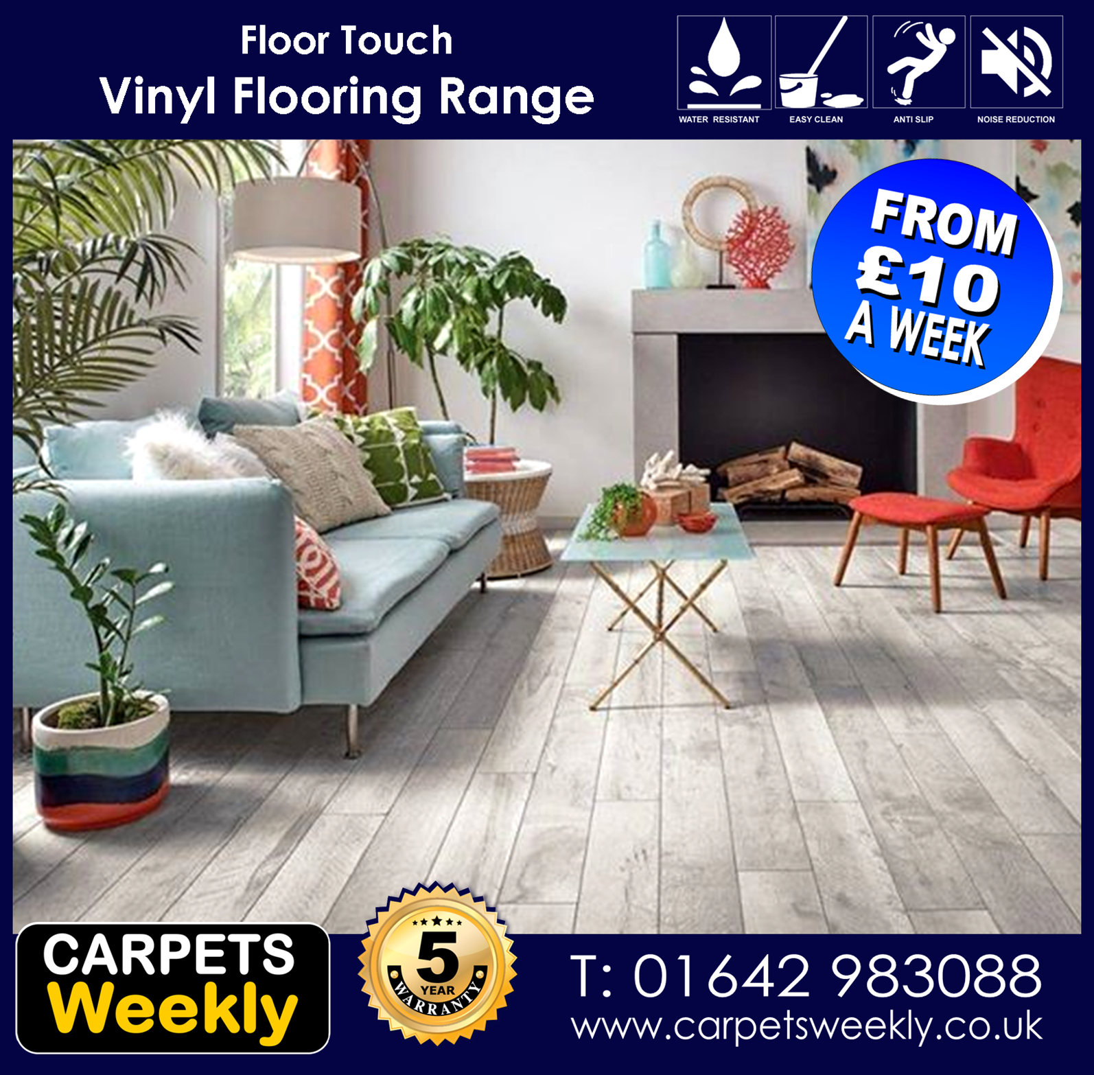 Vinyl Flooring Range from Carpets Weekly