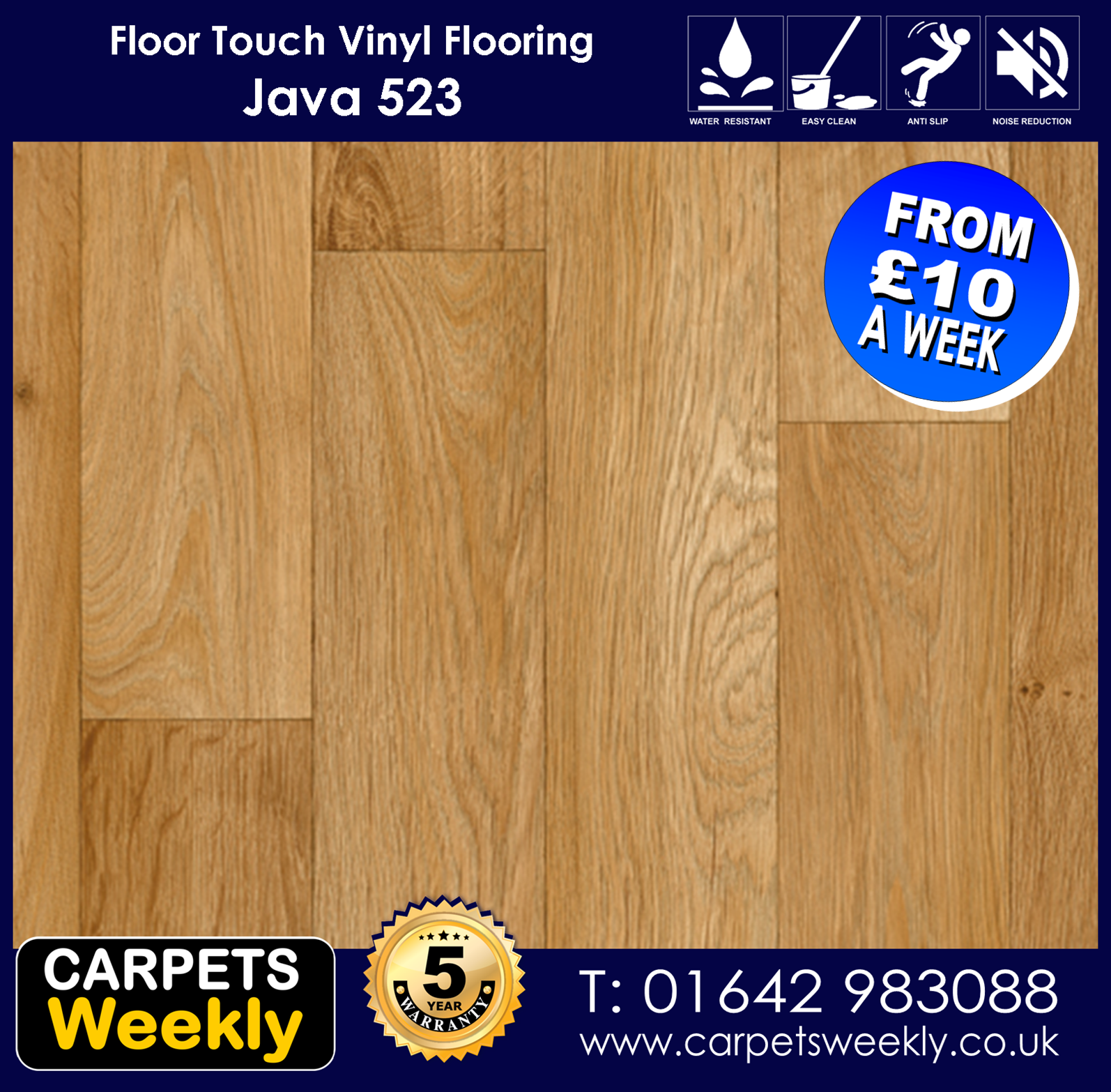 Java 523 Vinyl Flooring by Floor Touch from Carpets Weekly