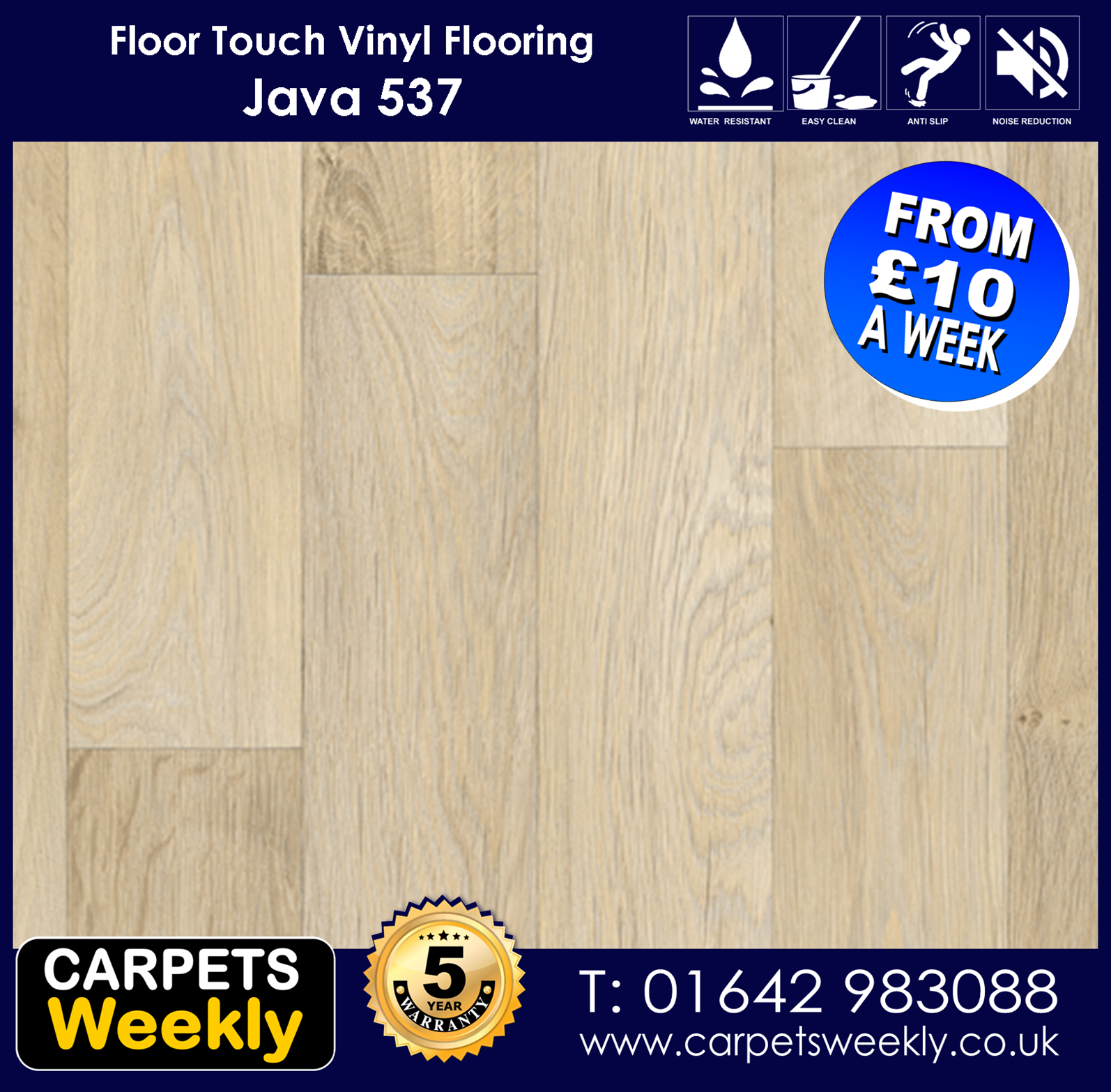 Java 537 Vinyl Flooring by Floor Touch from Carpets Weekly