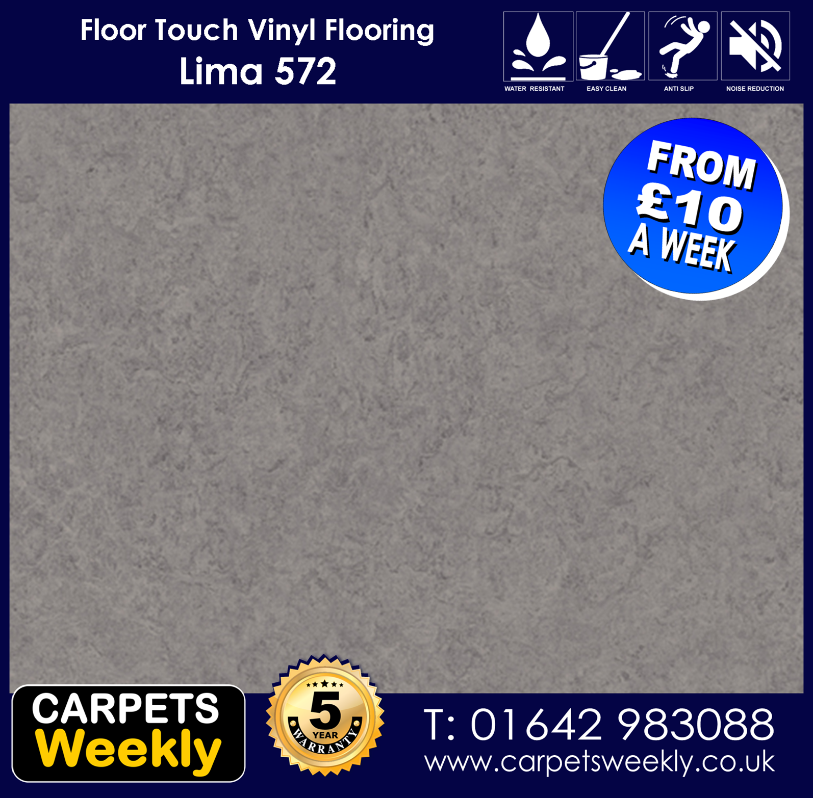 Lima 572 Vinyl Flooring by Floor Touch from Carpets Weekly