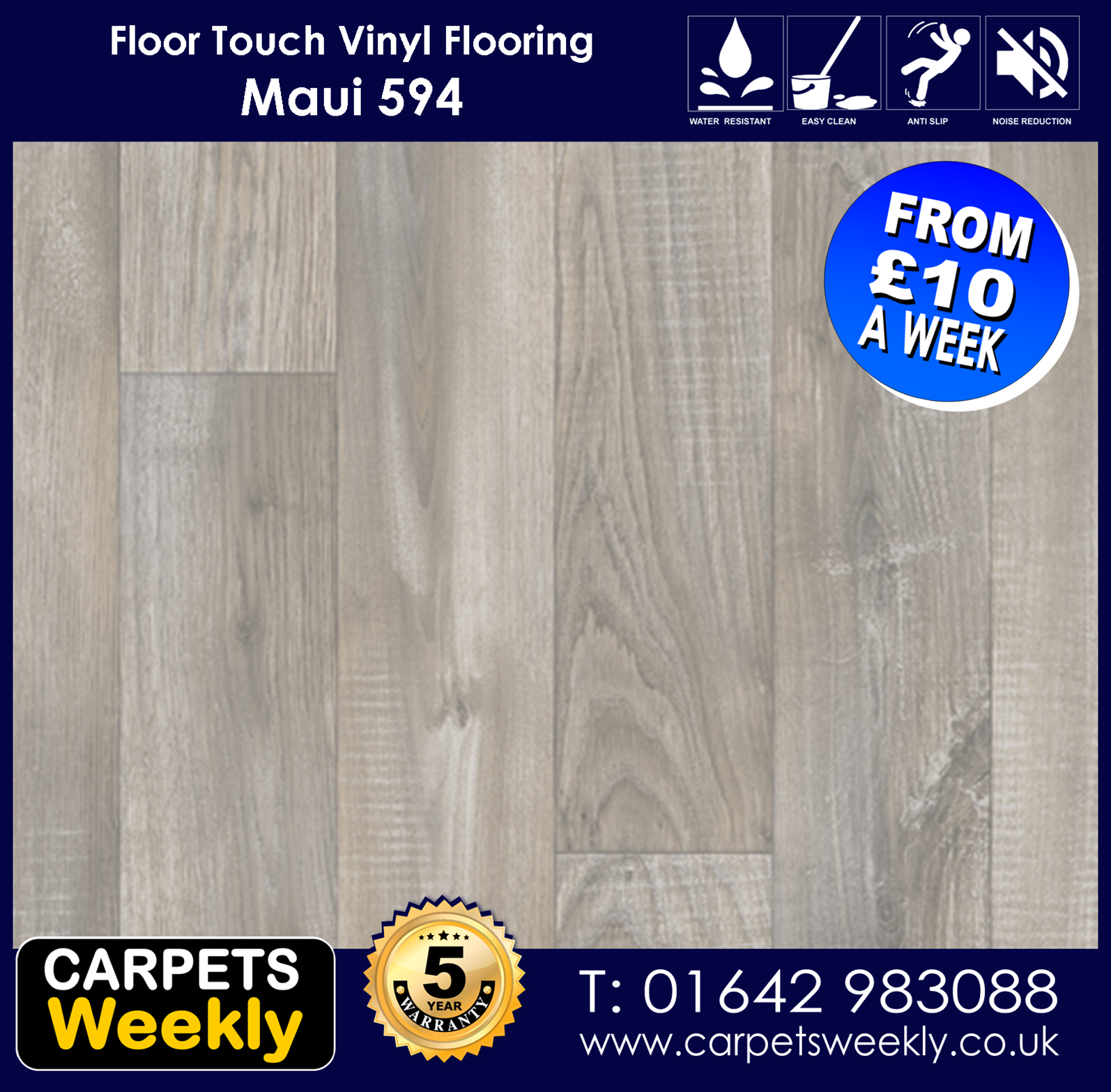 Maui 594 Vinyl Flooring by Floor Touch from Carpets Weekly