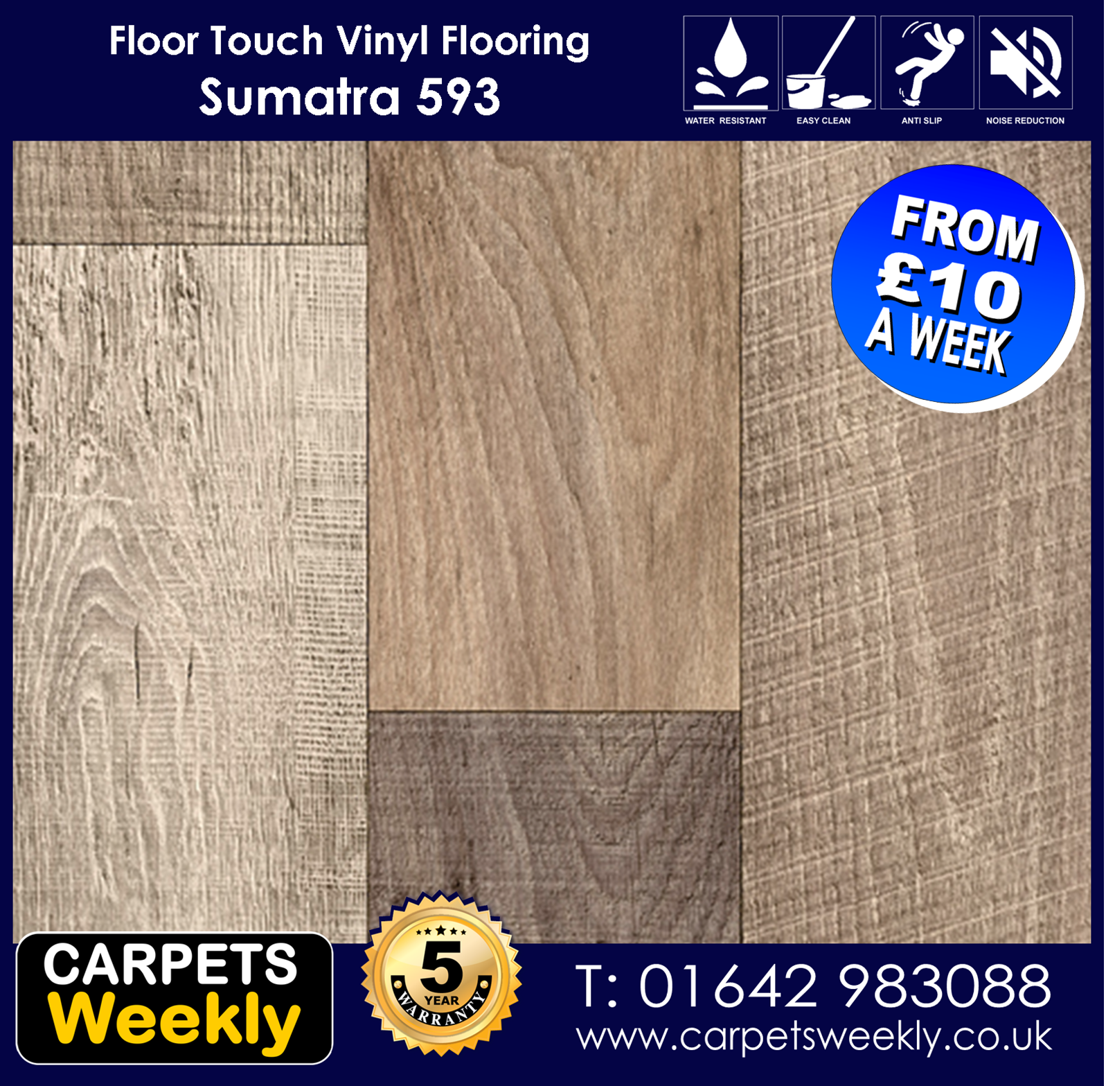 Sumatra 593 Vinyl Flooring by Floor Touch from Carpets Weekly