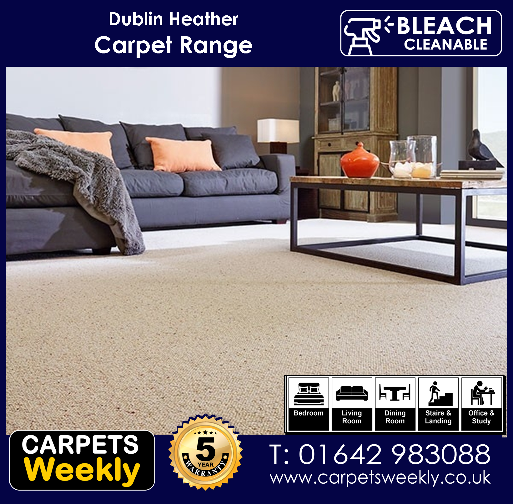 Dublin Heathers Carpet Range from Carpets Weekly