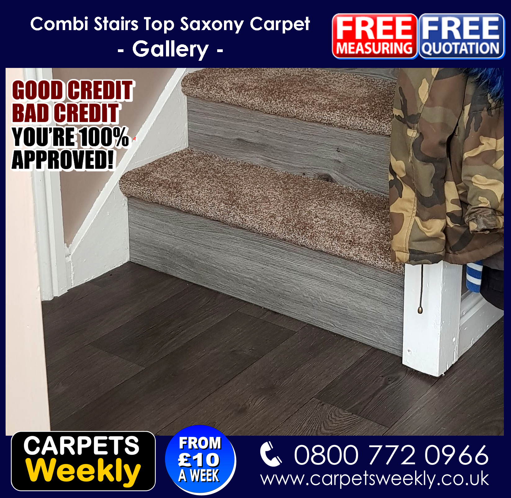 Carpets Weekly, Apollo Camel Carpet and Grey Oak Laminate 3