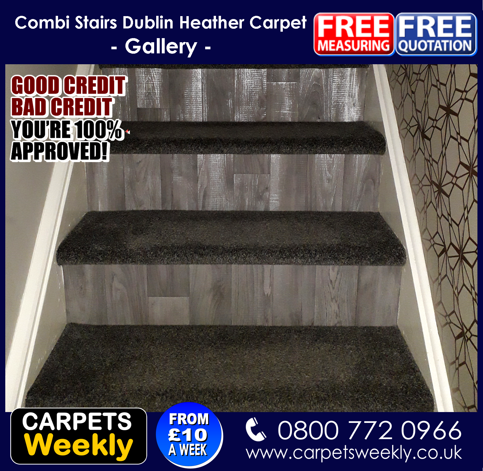 Top Saxony and Sandiargo Vinyl Combi Stairs (a)from Carpets Weekly