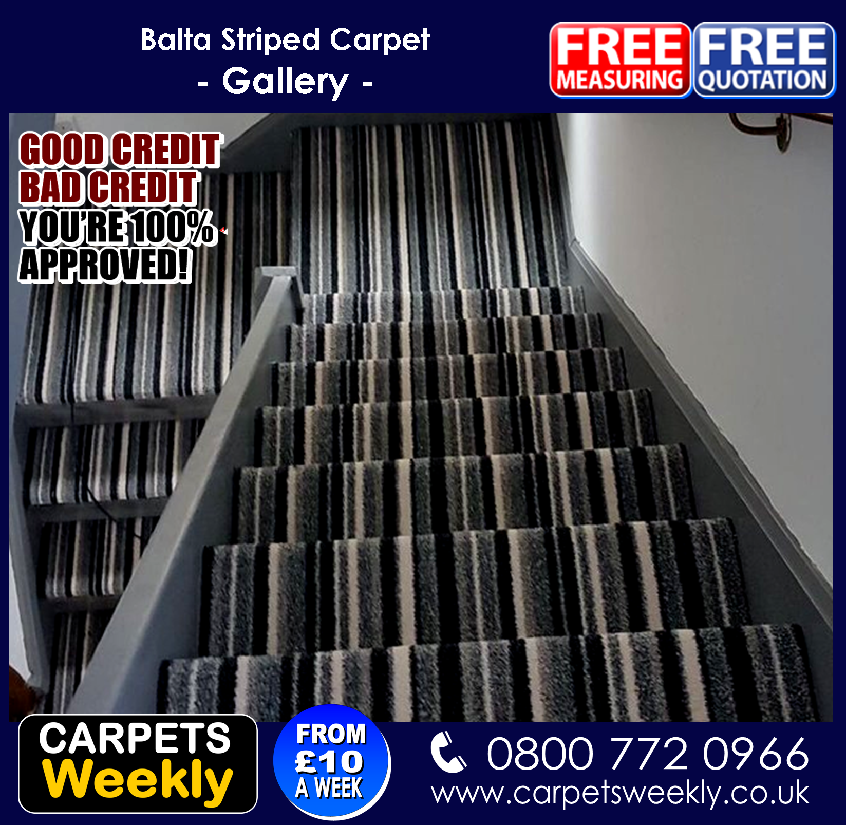 Balta Striped Noble Saxony Carpets from Carpets Weekly