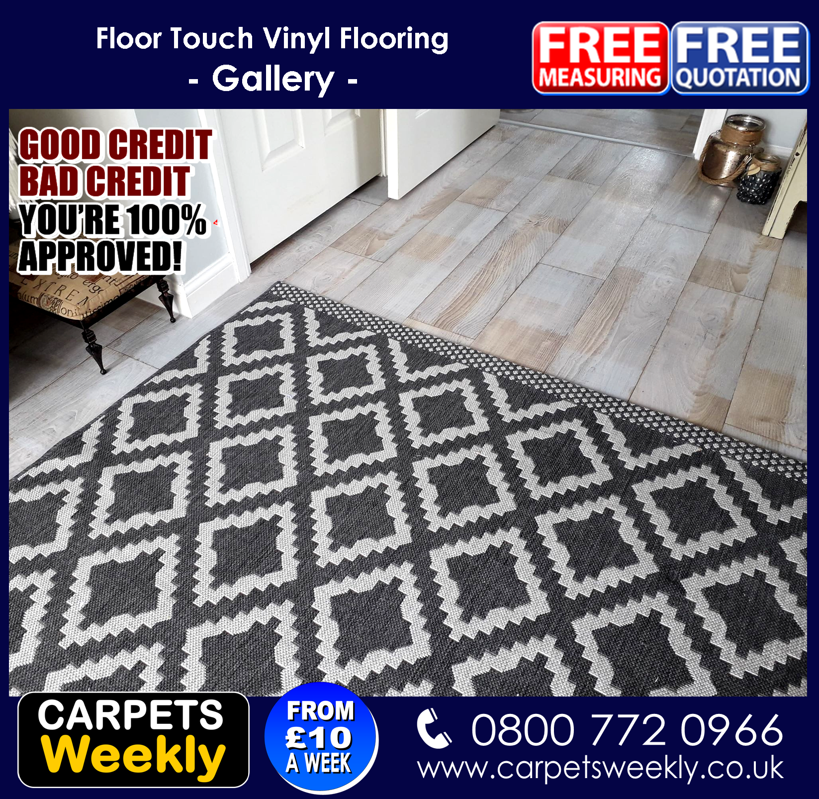 Sandiargo Vinyl flooring from Carpets Weekly