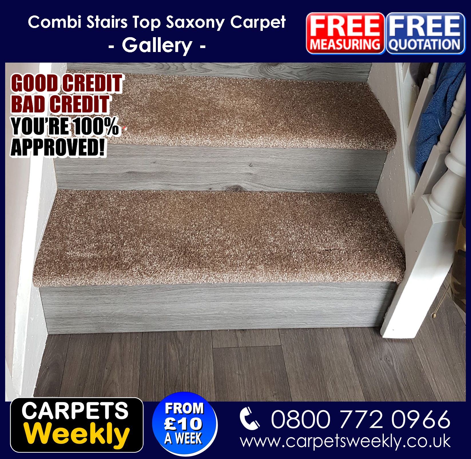 Carpets Weekly, Apollo Camel Carpet and Grey Oak Laminate 2