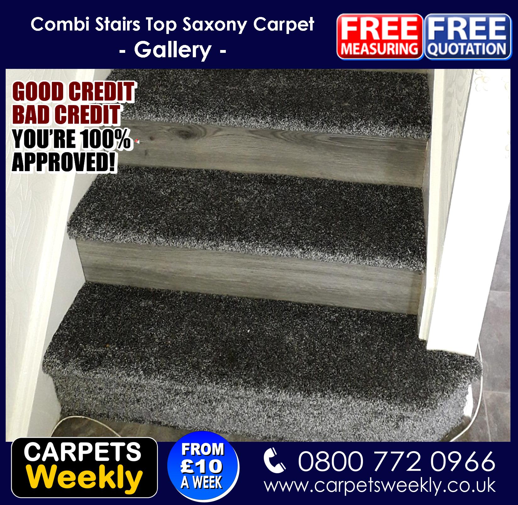 Carpets Weekly Apollo Dark Grey Carpet with Grey Oak laminate aminate Combi 2