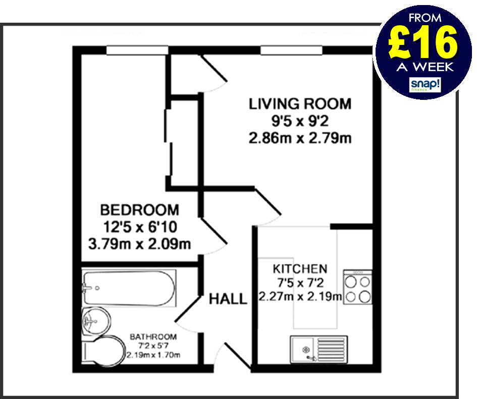 One bedroom flat - full property offer from Carpets Weekly