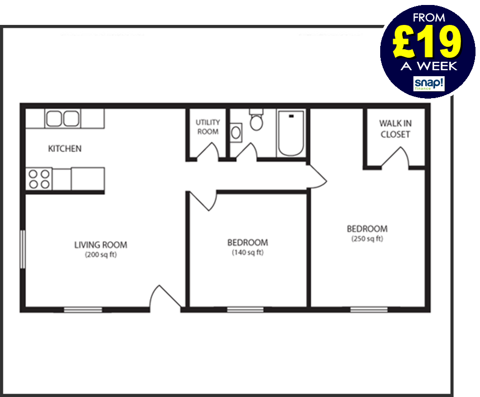 Two bedroom flat deals from Carpets Weekly FROM £19 A WEEK
