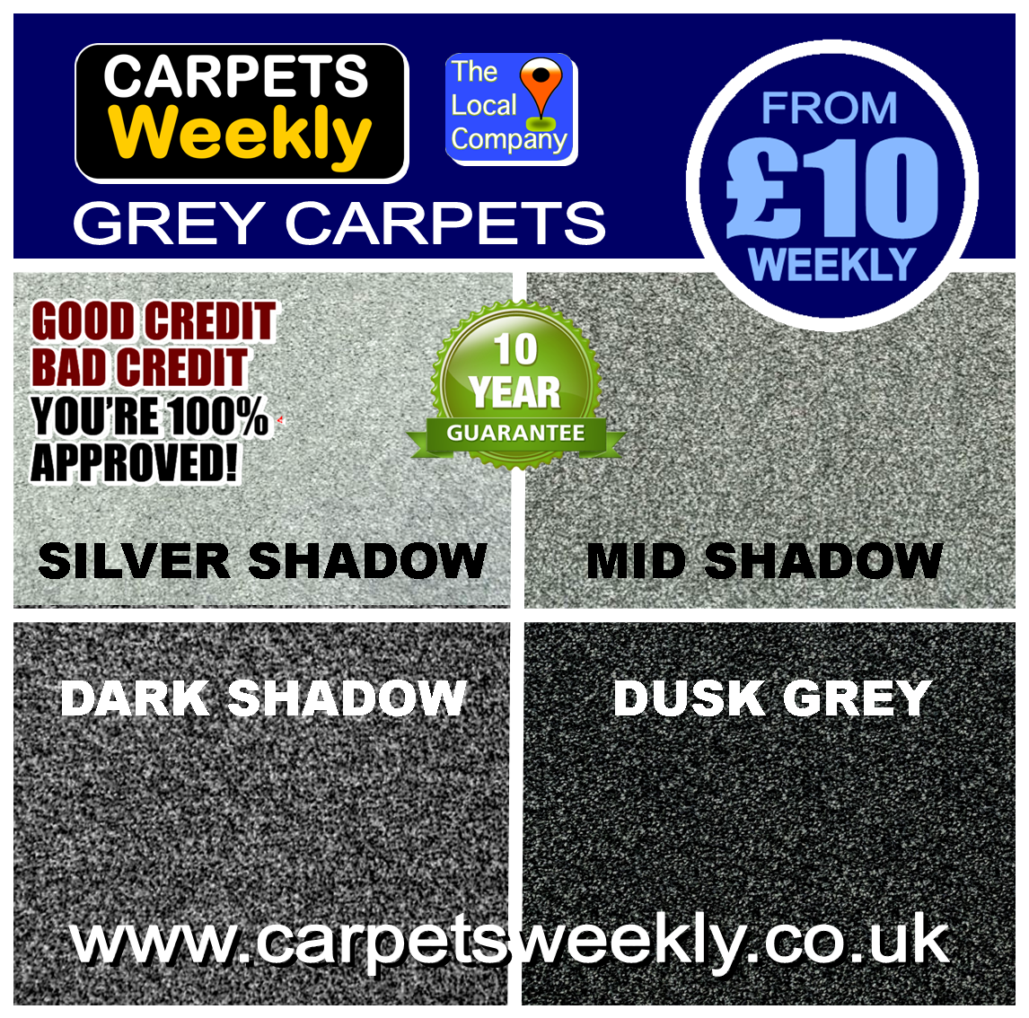 Quality Grey Carpets from Carpets Weekly in Middlesbrough