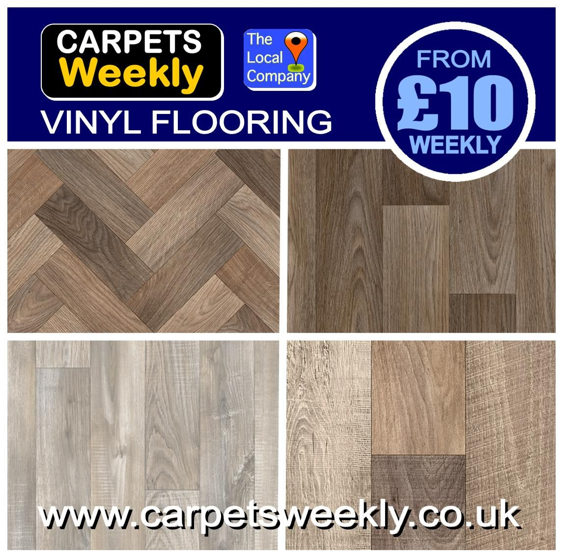 VINYL FLOORING FROM £10 A WEEK CARPETS WEEKLY