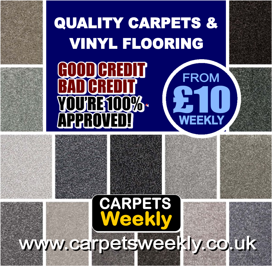 QUALITY CARPETS GUARANTEED ACCEPTANCE with Carpets Weekly in Stockton on Tees tel 01642983088
