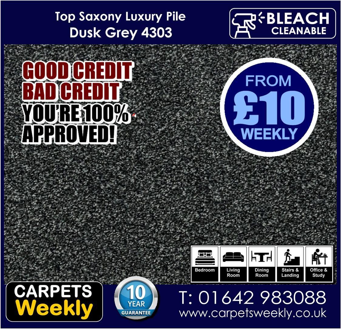 Dusk Grey Top Saxony Carpet from Carpets Weekly www.carpetsweekly.co.uk Tel 08007720966