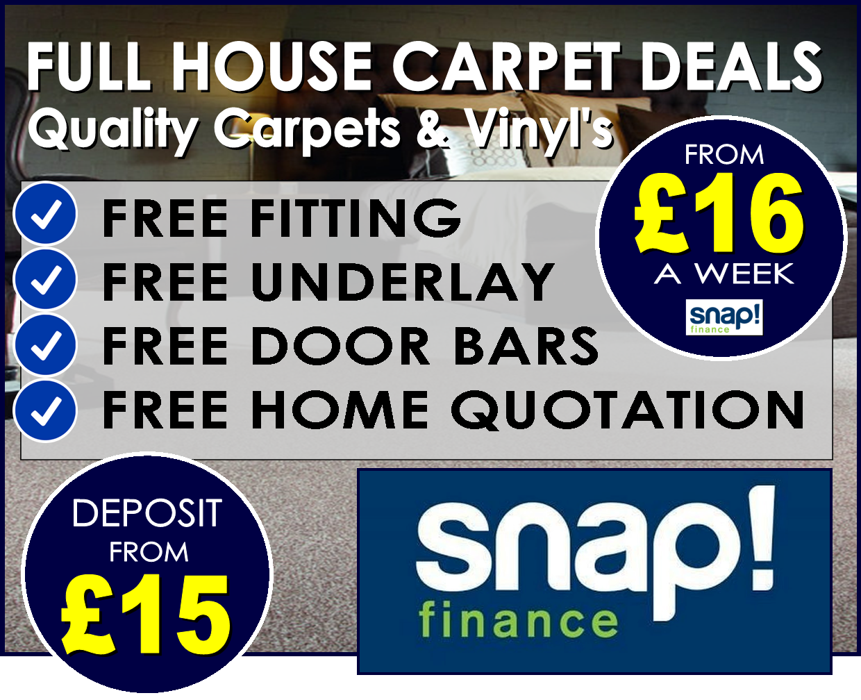 full house deals from Carpets Weekly and Snap Finance