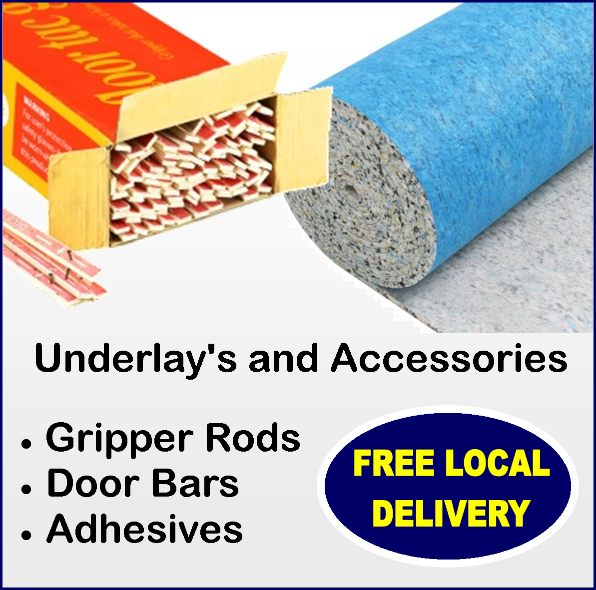 Underlay and accessories from Carpets Weekly www.carpetsweekly.co.uk Tel 08007720966