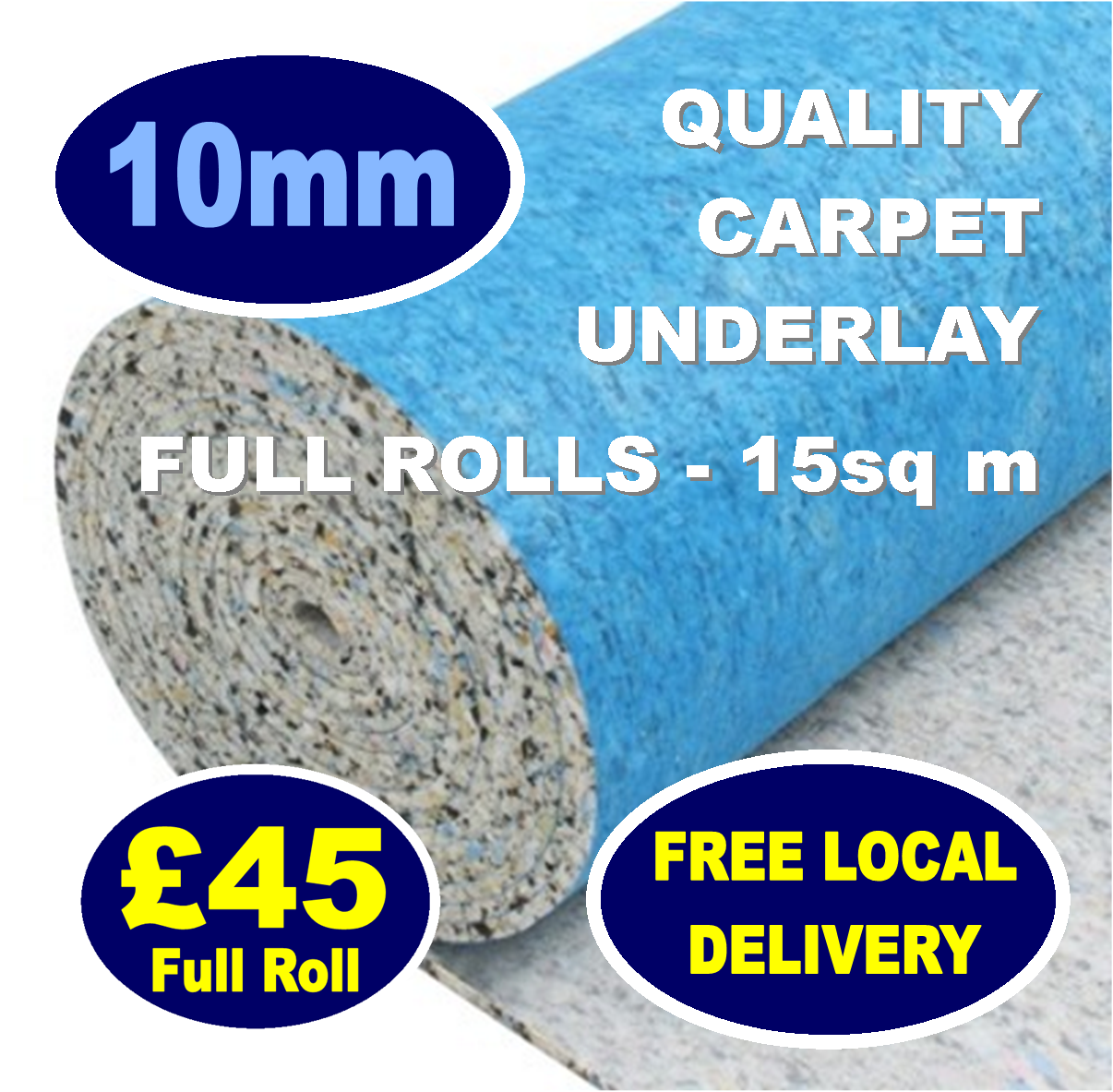 10mm underlay. Supply only from Carpets Weekly