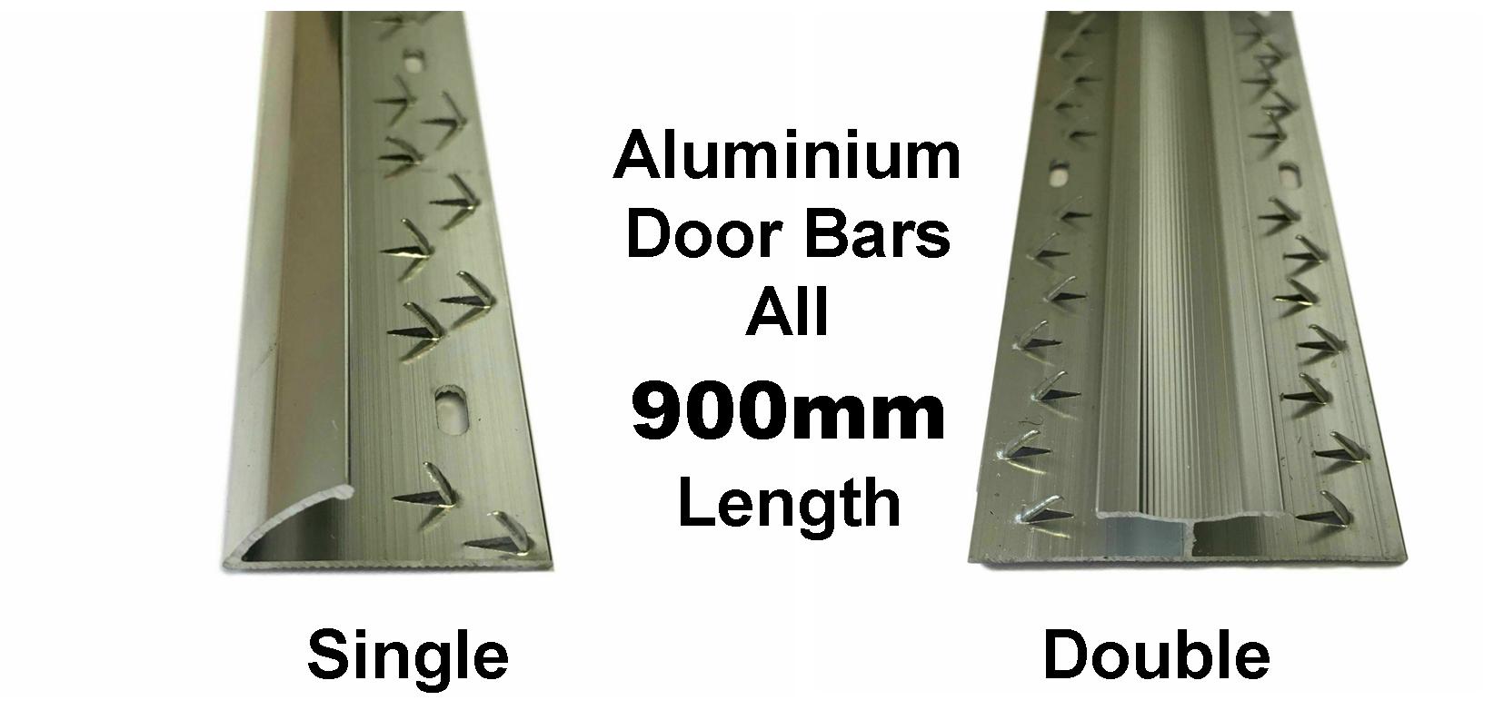 Single and double door bars. 900mm Alu only