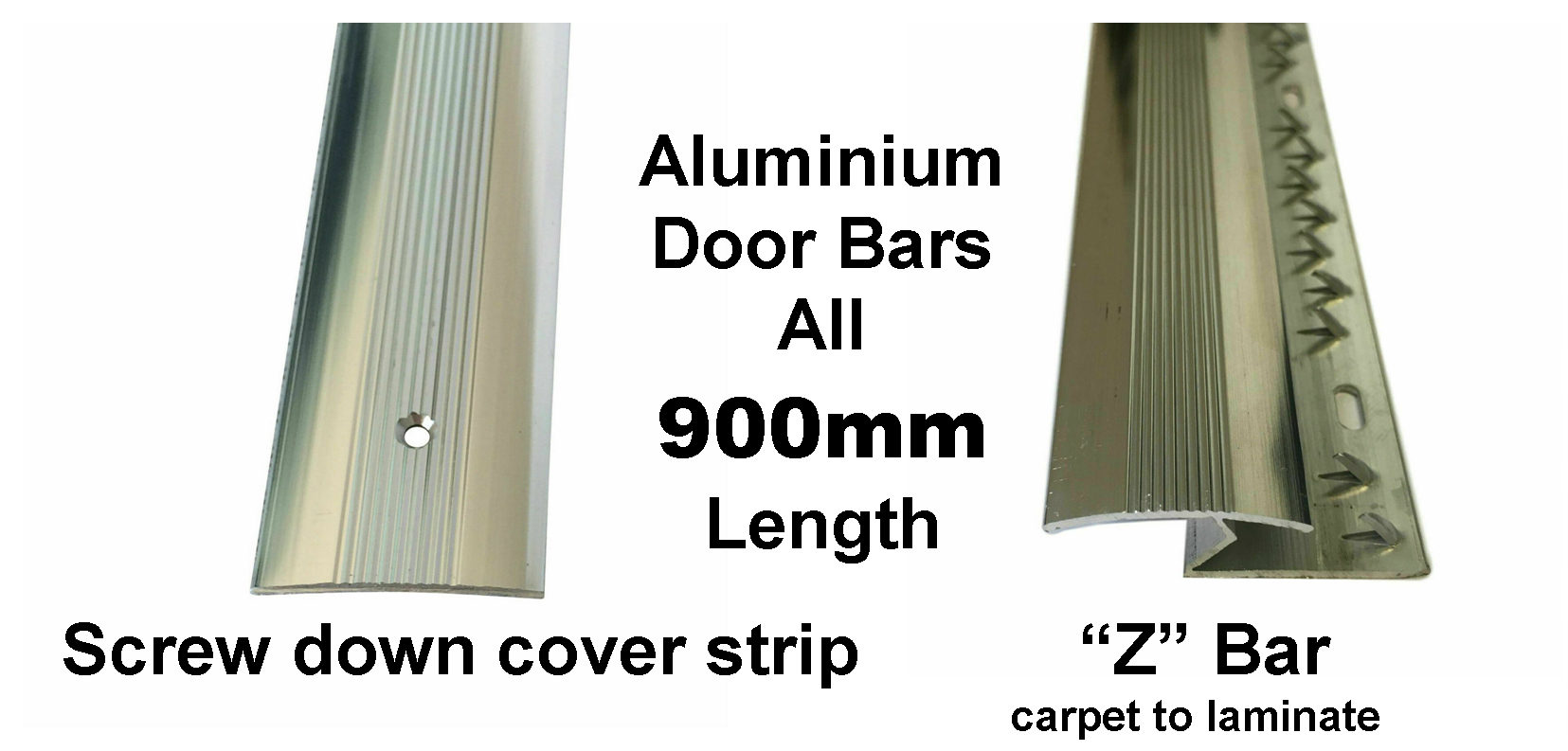 screw down cover strip and Z door bars