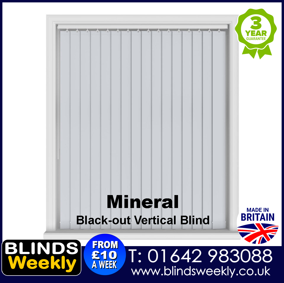Blinds Weekly Blackout Vertical Blind - Mineral