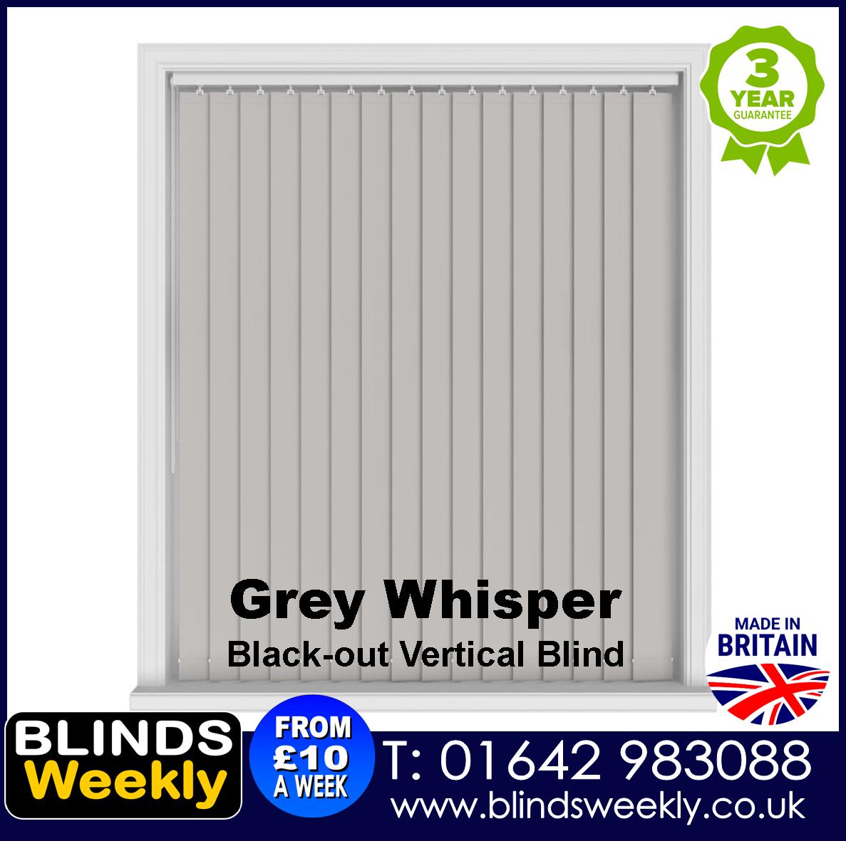 Blinds Weekly Blackout Vertical Blind - Grey Whisper