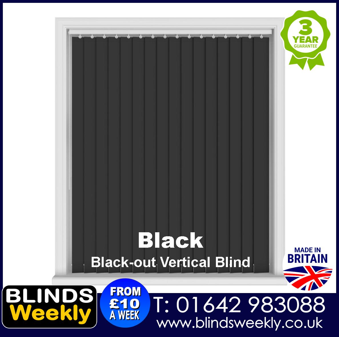 Blinds Weekly Blackout Vertical Blind - BLACK